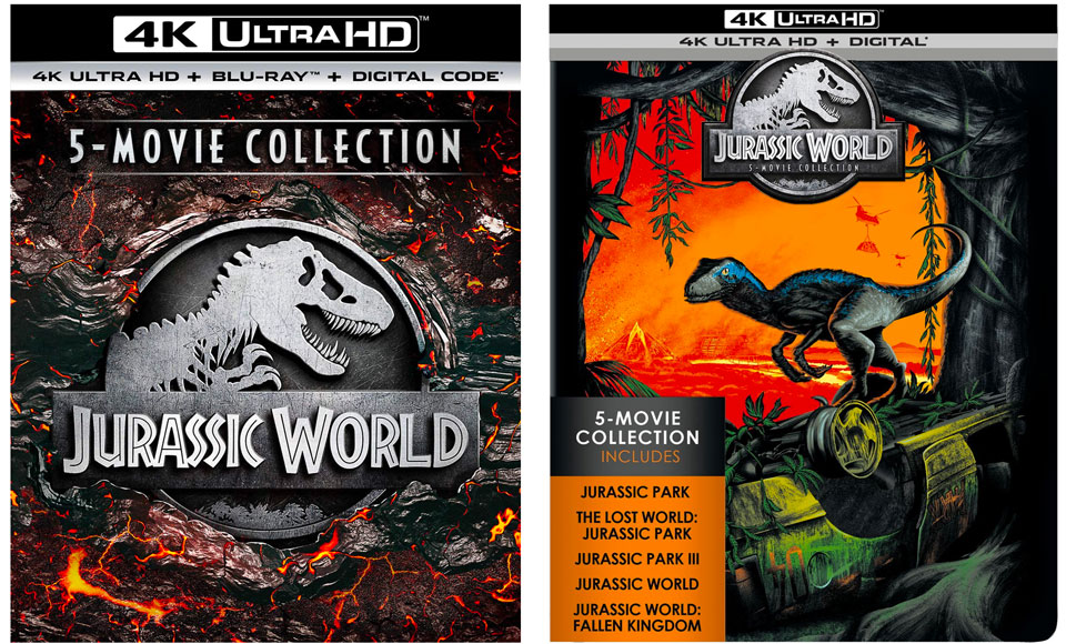 Jurassic World 5-Movie Collection (2019) vs. Jurassic World 5-Movie Collection SteelBook (2018)
